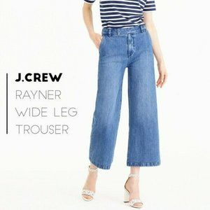 J Crew Rayner Wide Leg Cropped Jeans